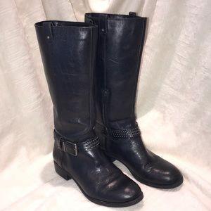 Jessica Simpson black riding boots.